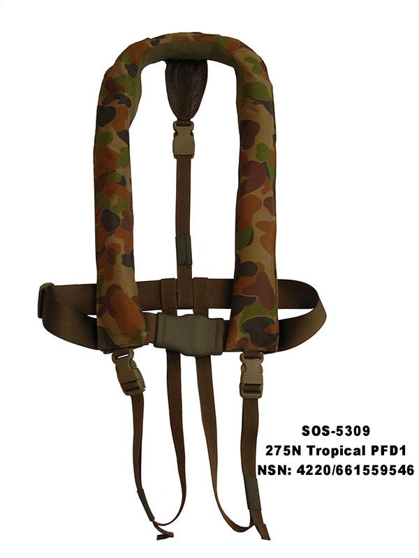 SOS-5309-Camo-Tropical-life-jacket-275-NSN-4220-66-155-9546