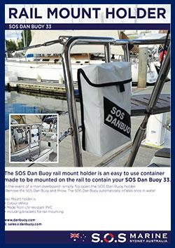 SOS Danbuoy Rail Mount Holder