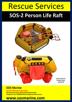 Rescue Services 2 persons raft