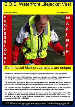 S.O.S Waterfront life jacket 250N 150 SOS-6103