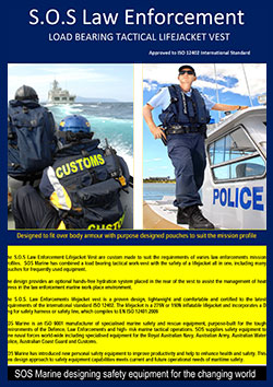 S.O.S.Law Enforcement Lifejacket with load bearing tactical vest