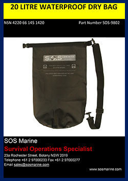 20 Litre Waterproof Dry Bag SOS-9802