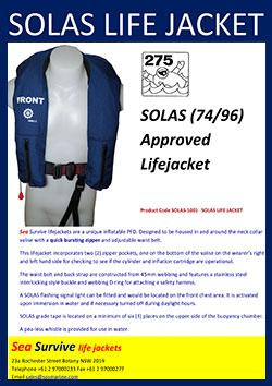 SOLAS lifejacket
