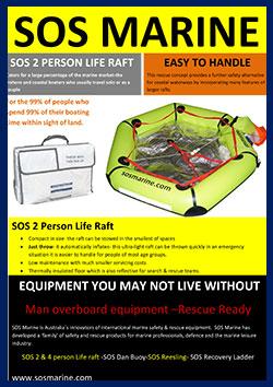 SOS 2 Person Life raft