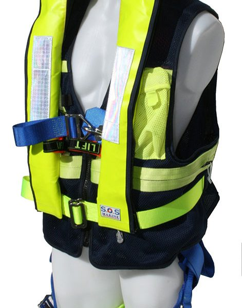 Life Jackets: SOS Harness with Life Jacket SOS-6182SOS Marine