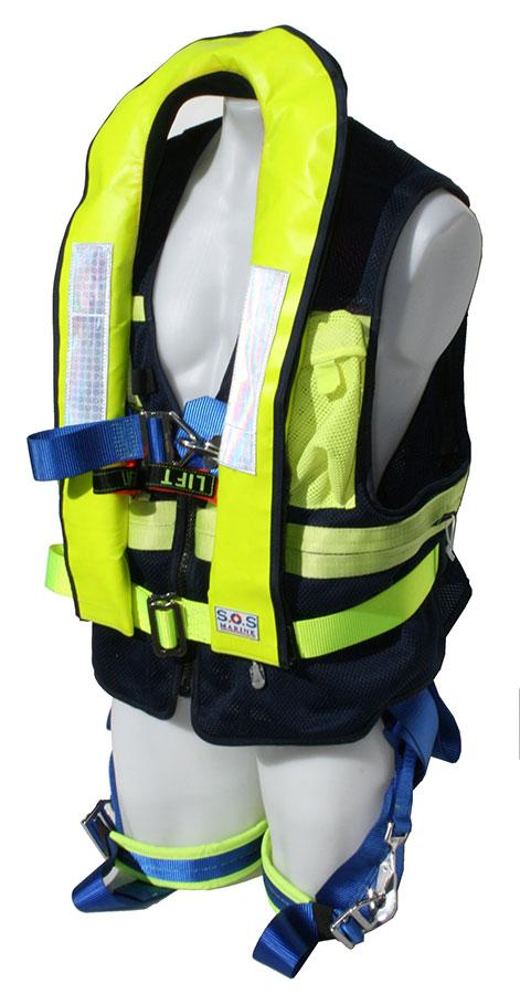 life jackets: sos harness with life jacket sos-6182 life jacket harness