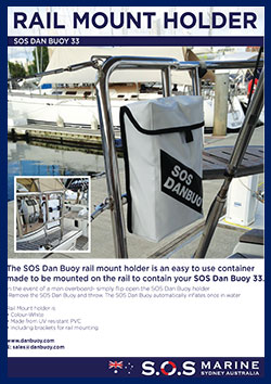 SOS Danbuoy Rail Mount Holder