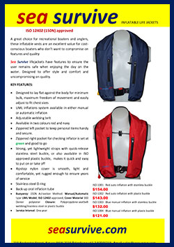 Sea Survive lifejackets