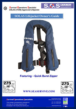 SOLAS LIFEJACKET Quick Burst Zipper Owners Manual