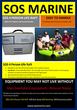 SOS 4 Person Life Raft SOS-5655