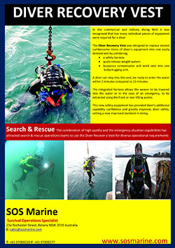 Diver Recovery Vest by SOS Marine